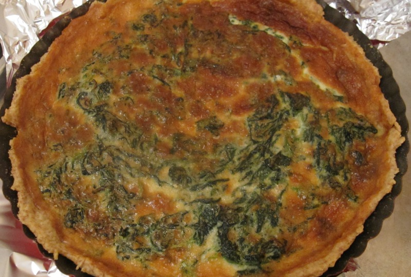 Spinat-Gorgonzola-Quiche